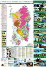 Geologische Karte Sardiniens mit 164 Minen.